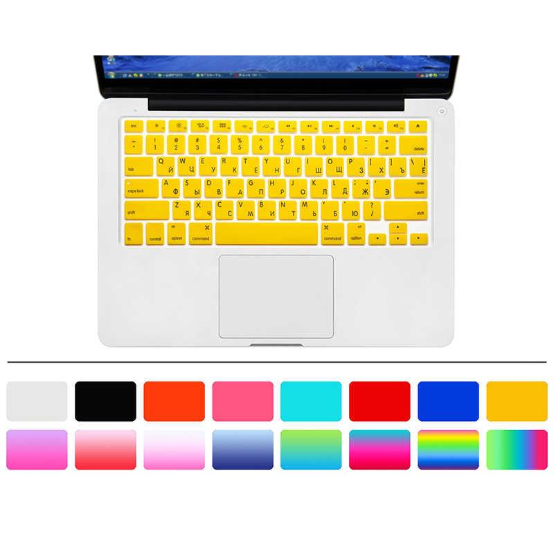 10 Kleur Amerikaanse Editie Russische Toetsenbord Film Protector Voor Macbook Air Pro Retina 13 Inch Laptop Skin Cover Voor Mac boek Gel Case