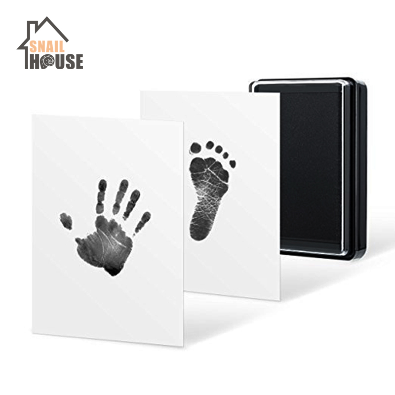 Snailhouse Baby Hand Footprint Mud Handprint Kit Souvenirs Children Baby Newborn Hundred Days Gift Security Hand Footprint Ink