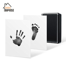 Snailhouse Baby Hand Footprint Mud Handprint Kit Souvenirs Children Baby Newborn Hundred Days Gift Security Hand Footprint Ink(China)