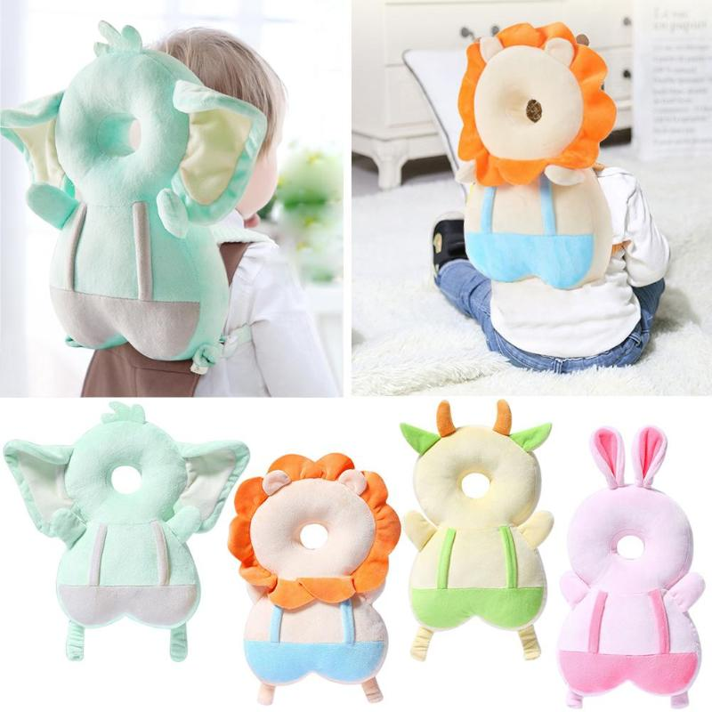 Baby Headrest Protection Pillow Nursing Drop Resistance Mat Cute Cartoon Soft Breathable Infant Anti-fall Pillow