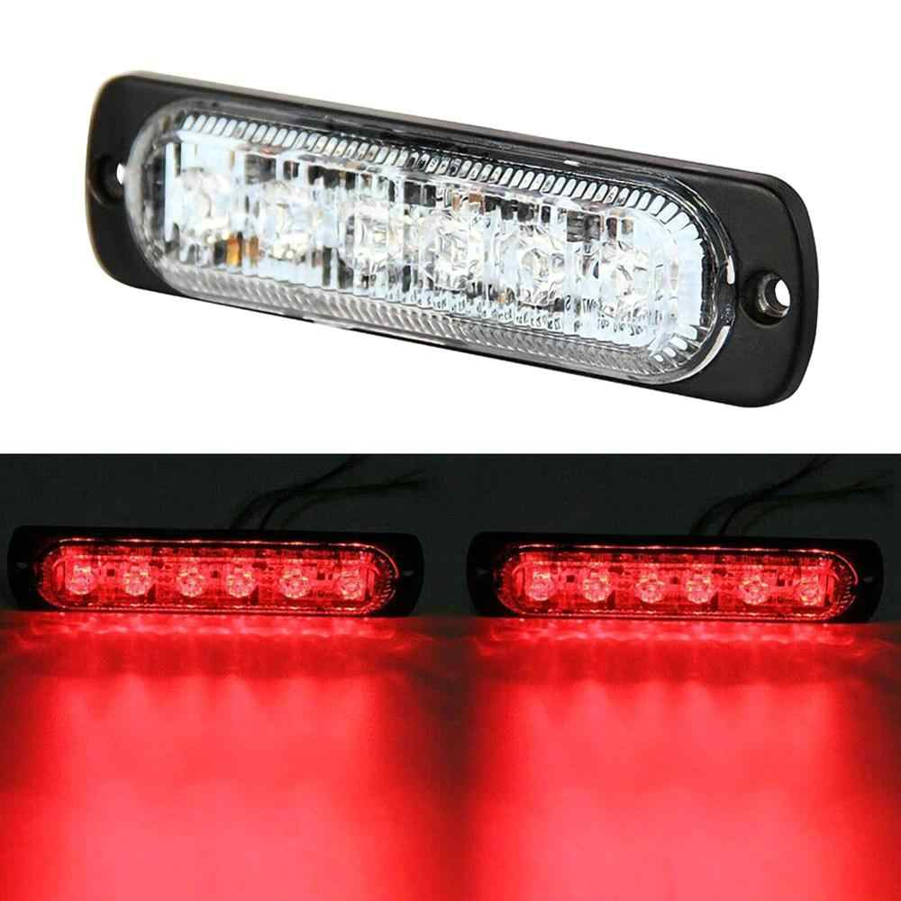 DC 12V Màu Đỏ 4/6/12 Đèn LED Nhấp Nháy Cảnh Báo Xe Ô Tô Dạng Lưới Tản Nhiệt Tặng Đèn Xe Tải Đèn Hiệu Nguy Hiểm cấp Cứu Đèn Giao Thông LED Khẩn Cấp Đèn