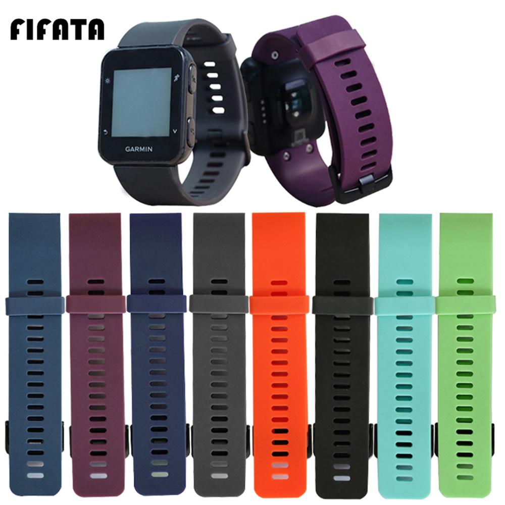 FIFATA Colorful Soft Silicone Watch Strap For Garmin Forerunner 35/Forerunner 30 Smart Sport Watch Wristband Replacement Part