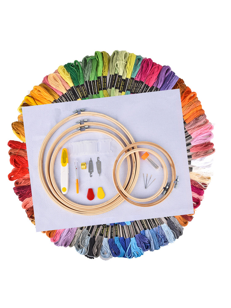 Hoop-Kit Embroidery Floss Knitting-Craft-Set Sewing-Accessories Handcraft Cross-Stitch-Thread