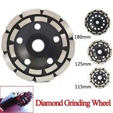 115/125/180mm diamante rebolo disco tigela forma moagem copo concreto granito pedra cerâmica ferramentas