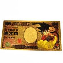 New Japan Dragon Ball Gold Banknote Son Goku Kakarotto 10000 Yen for collection
