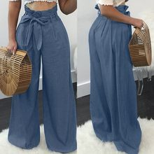 Fashion Wide Leg Pants Women's Spring Trousers ZANZEA 2021 Casual High Waist Long Pantalon Palazzo Female Solid Turnip Plus Size