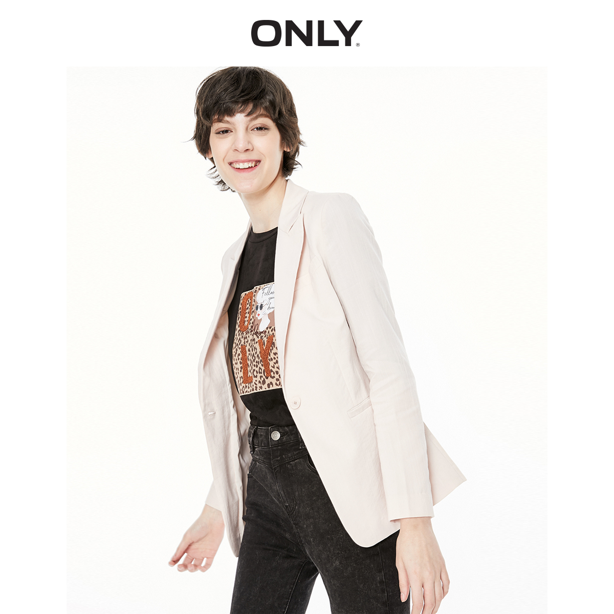 ONLY Women's  Slim Fit Pure Color Thin Blazer | 119308527