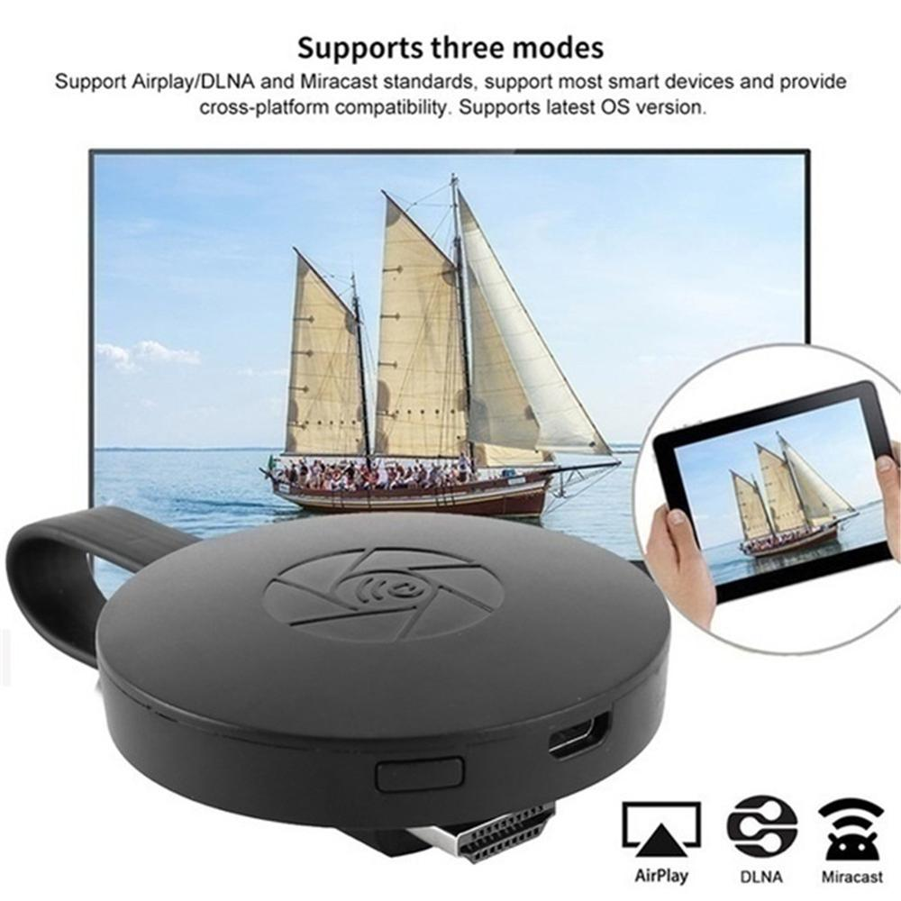 WiFi Wireless Display Dongle HDMI Adapter Portable TV Receiver Airplay Dongle Mirroring Screen From Phone To Big Screen Support image