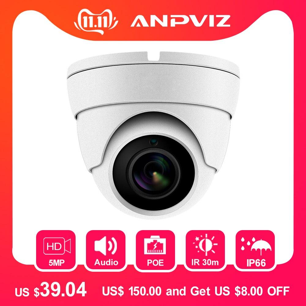 Hikvision Compatible 5MP POE IP Camera Outdoor/Indoor 2592 X 1944 Dome Security Video Surveillance Audio Camera CCT