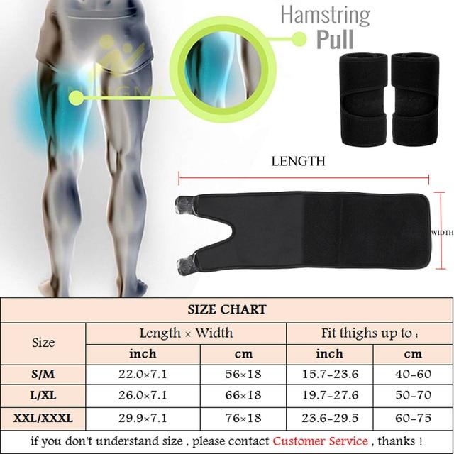 NINGMI Slim Thigh Trimmer Leg Shapers Fajas Slender Slimming Belt Neoprene Sweat Shapewear Toned Muscles Band Thigh Slimmer Wrap 5