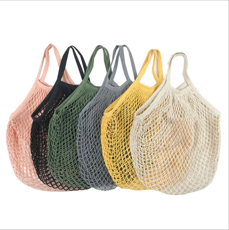 Многоразовая сумка для покупок складная хлопковая Сетчатая Сумка