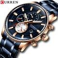 CURREN часы для мужчин роскошные классические модные кварцевые часы дисплей дата водонепроницаемый хронограф наручные часы Relogio Masculino