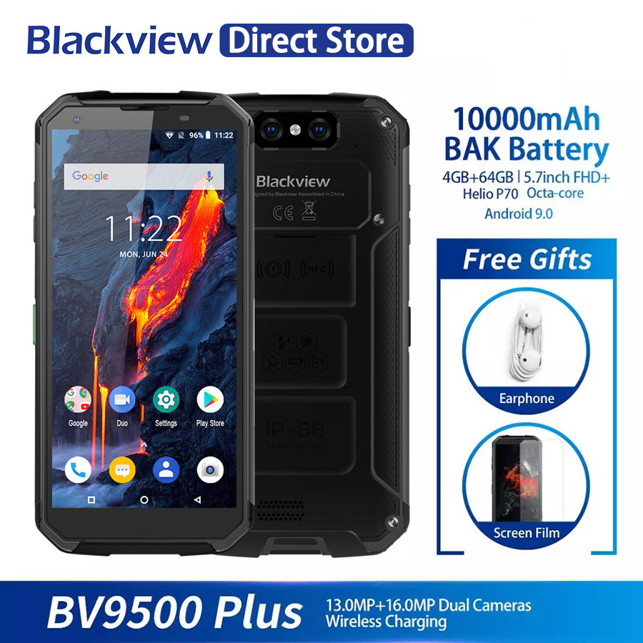 Blackview BV9500 4GB Plus Helio P70 LTE/WCDMA Nfc Adaptive Fast Charge Wireless Charging