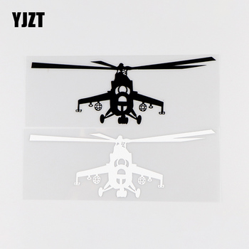 YJZT 15.8X5.4CM Creative Vinyl Decals Aircraft Art Car Stickers Decoration Black / Silver 10A-0010 image
