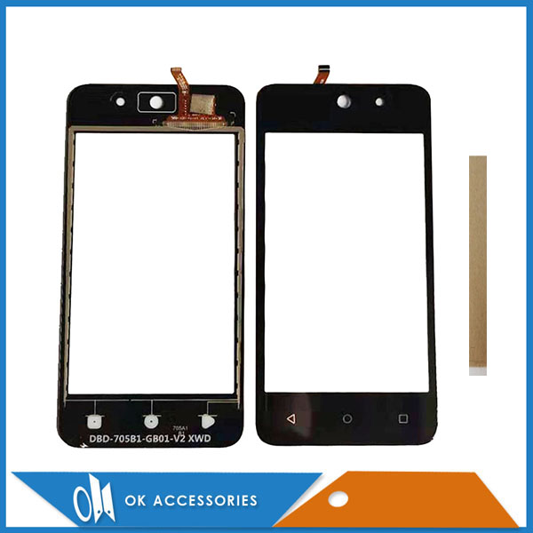 For DEXP Ixion M340 Touch Screen Glass Digitizer Glass Sensor Black Color With Tape
