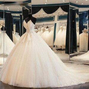 Image 2 - สินค้าใหม่เงาGorgeousชุดบอลชุดแต่งงานกับลูกปัดคริสตัลดอกไม้Casamento