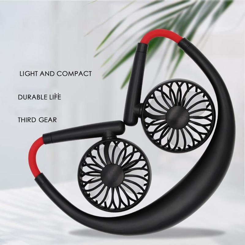Rechargeable Fan Portable Neck Sport Fan Neckband Desk Hand Air Fan Conditioner Personal Fan USB Rechargeable Fan For Dropship-