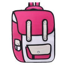 3D Jump Style 2D Drawing From Cartoon Comic Bookbag Paper Backpack Shoulder Bag