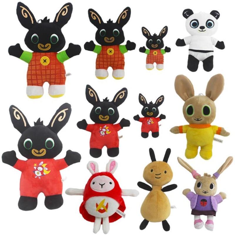 15-35cm Cartoon Bing Bunny Plush Toy Pendant Clip Keychain Hoppity Voosh Stuffed Animal Panda Rabbit Doll Toy For Gifts