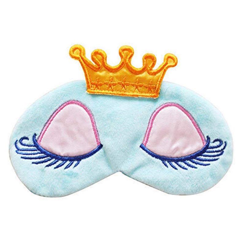 ABKT-Cartoon Long Eyelashes Big Eyes Crown Sleeping Eye Mask Sleep Mask