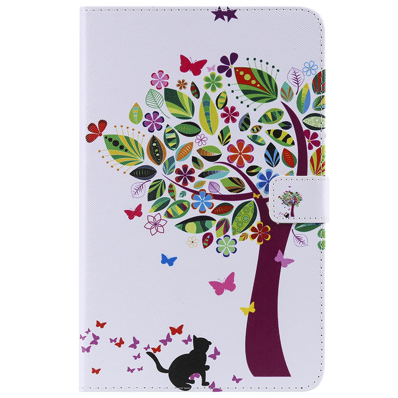 For Samsung Tab A 8.0 2018 T387 Cartoon Cat Leather Funda Case For Coque Samsung Galaxy Tab A 8.0 2018 SM-T387 Cover Case