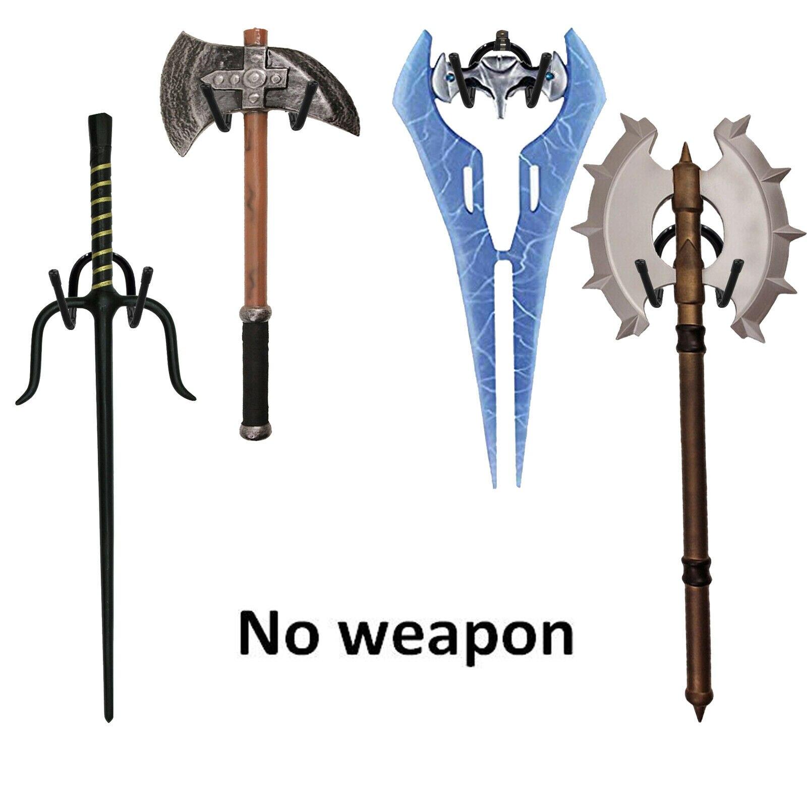 Hacha Espada 2x Soporte de exhibición Colgador Pared espada Universal Para Espada Daga De Rack