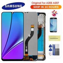 100 oryginalny LCD do SAMSUNG Galaxy A20s A207 A2070 SM-A207F wyświetlacz LCD ekran Digitizer zgromadzenie części zamienne do A20S tanie tanio CN (pochodzenie) Pojemnościowy ekran 1520x720 3 AMOLED For Samsung A20s A207 SM-A207F A2070 LCD i ekran dotykowy Digitizer