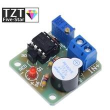TZT 12V LM358 akumulator Alarm dźwiękowy i świetlny brzęczyk zapobiegający nadmiernemu rozładowaniu modułu kontrolera bez zabezpieczenia przeciwprzepięciowego