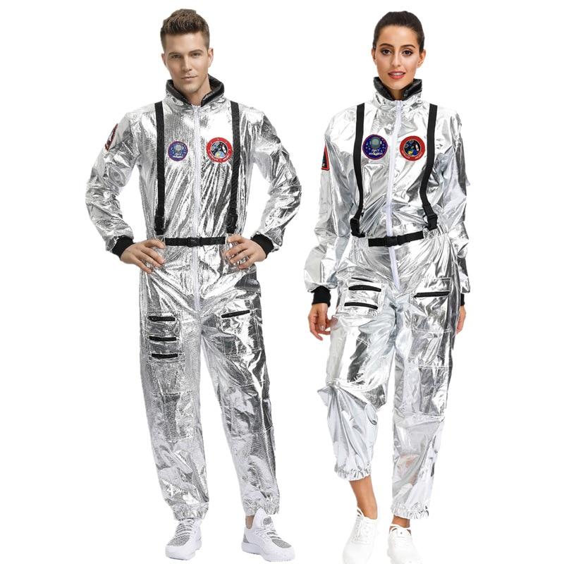 Space Suit Space Suit Women's Men's Pilots Cosplay Astronaut Clothing Space Suit Costume Roam Earth