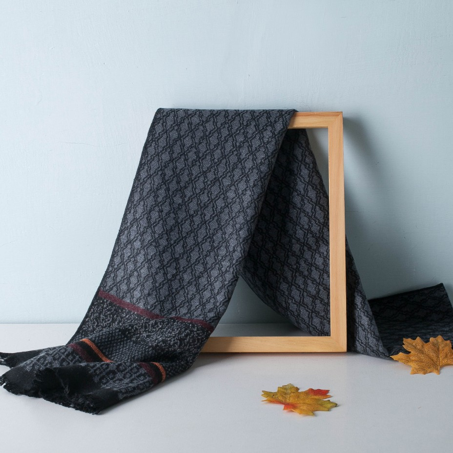 Dropshipping Luxury Brand Winter Men Scarf Geometric Design Men Women Cashmere Scarves Neckerchief Fashion Soft Warm Shawl Wraps