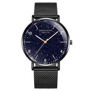 Image 3 - Relogio masculino yaratıcı Ultra ince saatler erkekler tam paslanmaz çelik siyah saat aydınlık arapça Timepiece su geçirmez askeri