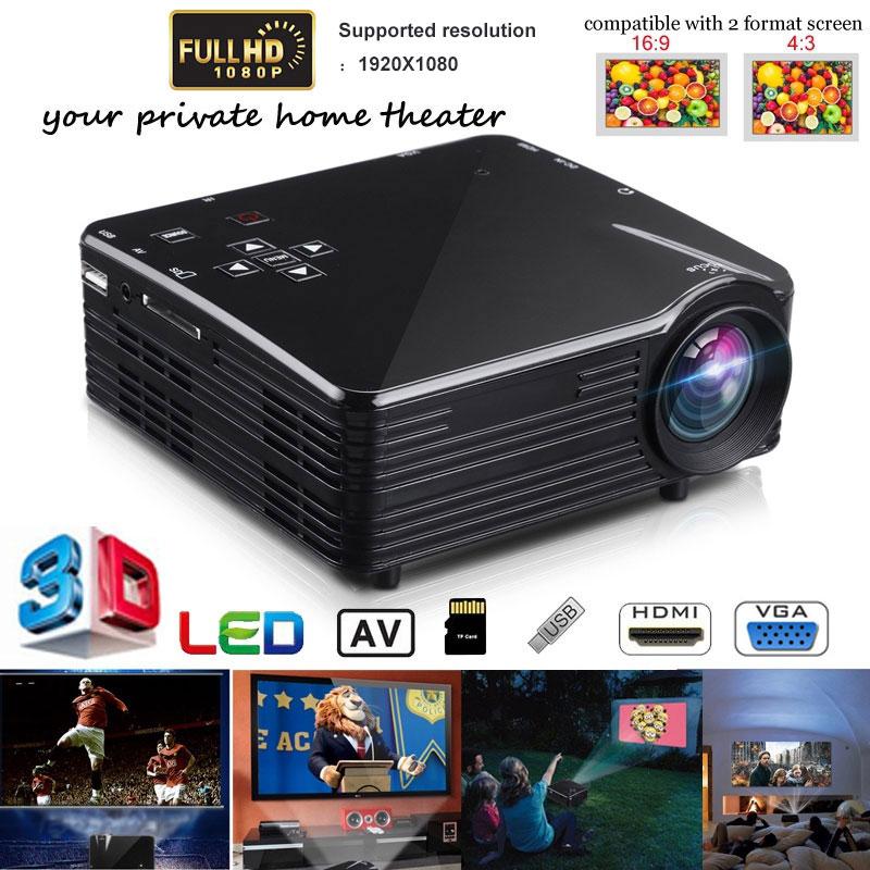 Портативный мини 3D проектор HD 1080P LCD домашний мультимедийный светодиодный мини театральный проектор USB/AV/VGA/HDMI/SD