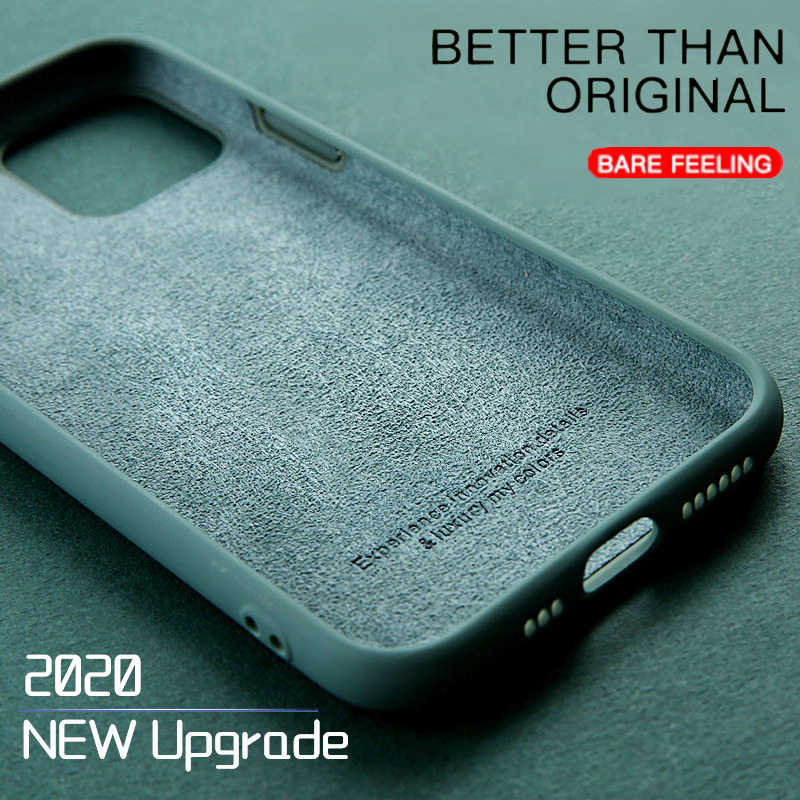 Mewah Cair Asli Silicon Ponsel Case untuk iPhone 11 Pro XS Max X XR 7 8 6 6S PLUS ultra Slim Soft Gel Cover Permen Warna Case