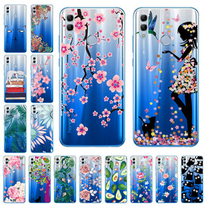 3D DIY Painted Case For Huawei Honor 10 Lite Case Silicon Transparent Protective Bumper Huawei Honor 10i 20i Honor10 Cover Capa(China)