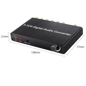Image 2 - Prozor 192 كيلو هرتز 5.1CH DAC محول التحكم في مستوى الصوت الرقمية إلى التناظرية و 3.5 مللي متر جاك محول صوت محول ل AC 3