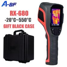 Cámara de imagen térmica Industrial para reparación de A-BF, cámara de imagen térmica infrarroja de 256x192 píxeles, detección de calor doméstico de-20 °C ~ 550 °C, RX-680