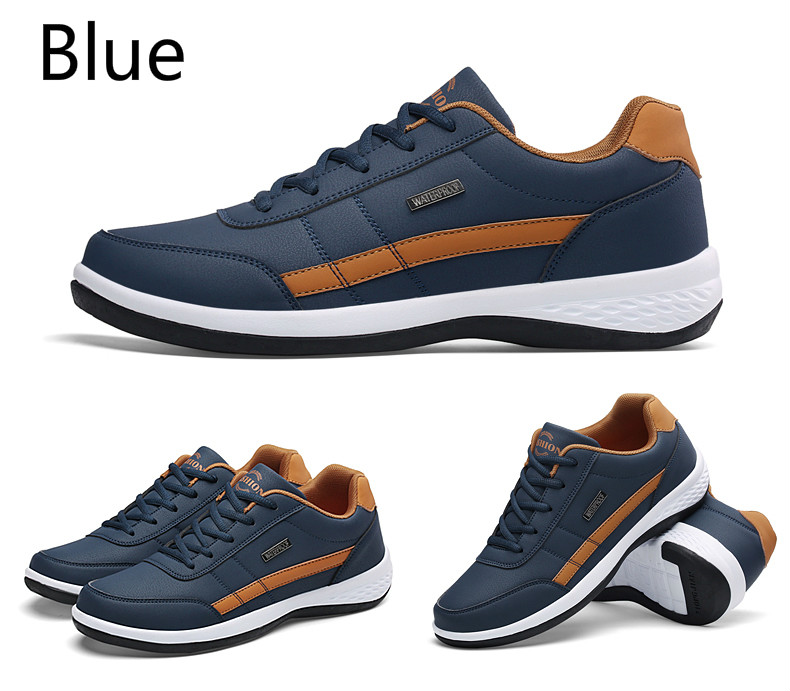 H34e62702c5db4253bb26a9aaa7ce259cK - Yhebke Fashion Men Sneakers for Men Casual Shoes Breathable Lace up Mens Casual Shoes Spring Leather Shoes Men chaussure homme