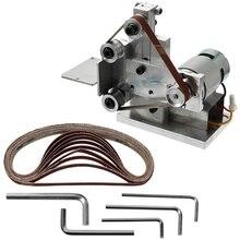 Акция-многофункциональный измельчитель мини электрический ленточный шлифовальный станок Diy шлифовальная полировальная машинка резец кромок точилка ленточная шлифовальная машина