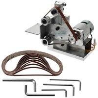 Promotion Multifunctional Grinder Mini Electric Belt Sander Diy Polishing Grinding Machine Cutter Edges Sharpener Belt Grinder