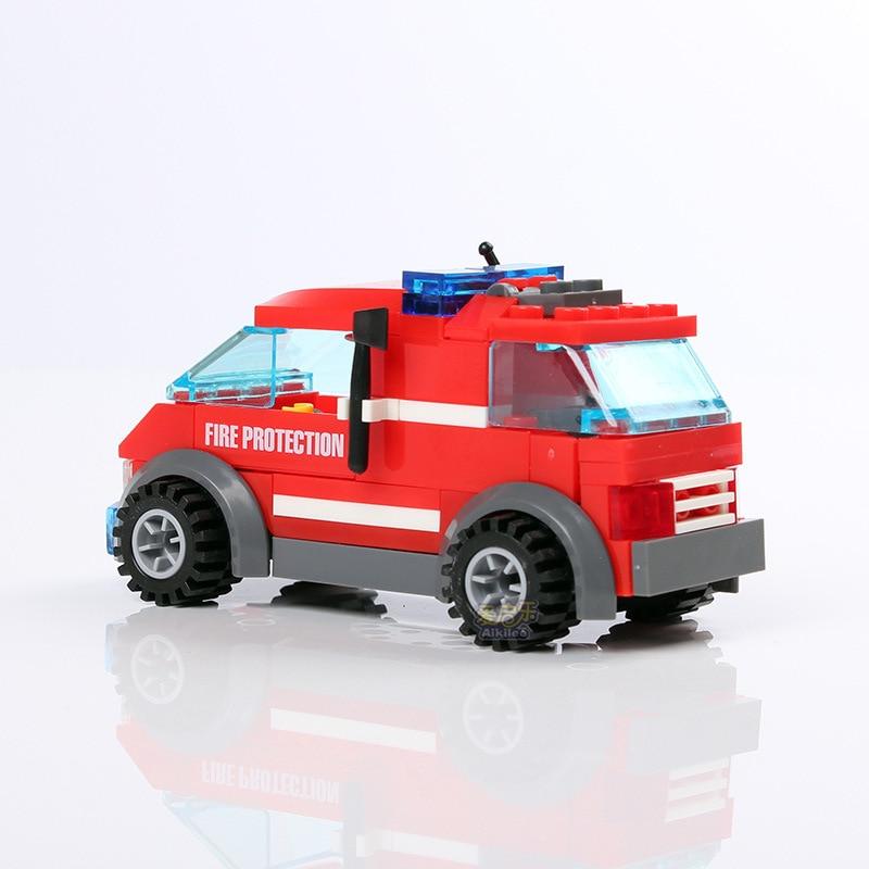 Fire Truck Building Blocks Set Toys Bricks Vehicles Model Kids Educational DIY