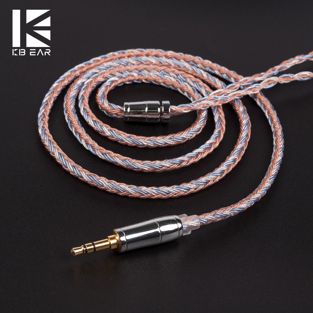 AK KBEAR 16 Core Upgraded Silver Plated Copper <font><b>Cable</b></font> 2.5/3.5/4.4MM With MMCX/2pin/QDC TFZ Connector For <font><b>KZ</b></font> <font><b>ZS10</b></font> ZSN Pro AS16 ZSX image