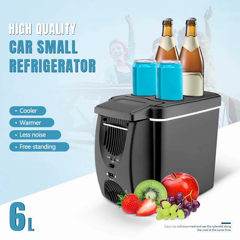 Mini 6L Car Warming Refrigerator Heat Fridge 12V Auto Freezer Portable Multi-Function Anti-Rotten Keep Cool Warm