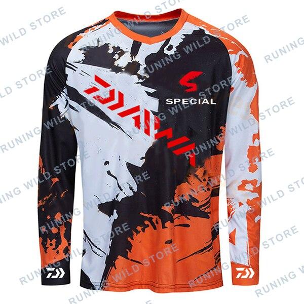 2020 DAIWA Men Fishing Clothing Ultrathin Sunscreen Anti-uv Breathable Coat Summer Long SleeveFishing Shirt Size XS-5XL Jacket