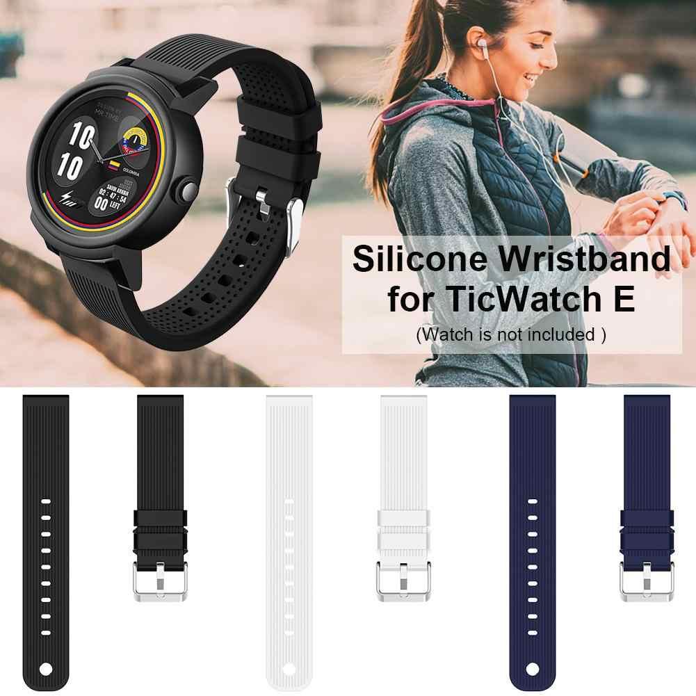 Molle Del Silicone Wristband Watch Band Cinturini Per TicWatch 2 TicWatch E 20 millimetri di Ricambio Fascia Unisex