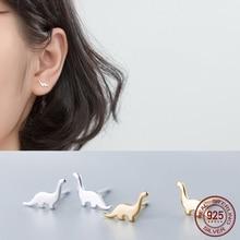 La Monada Animal Dinosaur Korean Minimalist Women Earrings Silver 925 Stud Fine
