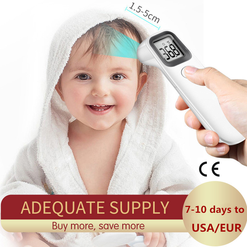 Muti-fuction Baby/Adult Digital Thermometer Infrared Forehead Body Thermometer Gun Non-contact Temperature Measurement Fast Ship