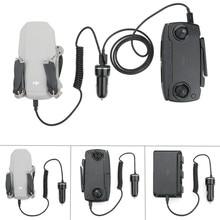 Mavic zangão carregador de carro bateria & controle remoto inteligente seguro carregamento portátil para dji mavic mini drone acessórios