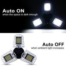 WENNI LED Lamp E27 220V Garage Light 60W 80W 100W Bulb E26 Sensor UFO Industrial Lighting Waterproof 2835SMD