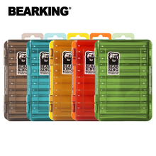 BEARKING Doublex Sided Fishing Tackle Box 12 Compartments Bait Lure Hook Storage Box Fishing Accessories Plastic Storage Case
