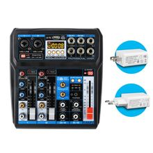 Professional 6-Channel Audio Mixer with USB Interface Bluetooth DSP Sound Effects Sound Mixing Console for USB Record